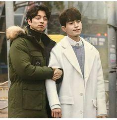 Kim Shin (Gong Yoo) and Reaper (Lee Dong Wook) from Goblin Korean Celebrities, Korean Actors, Lee Dong Wok, Goblin Gong Yoo, Lee Dong Wook Goblin, Goblin Korean Drama, Yoo Gong, Goong, Kim Go Eun