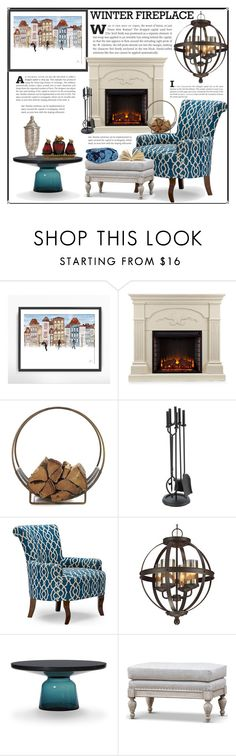 """""""Warm and Cozy"""" by hastypudding ❤ liked on Polyvore featuring interior, interiors, interior design, home, home decor, interior decorating, Southern Enterprises, Crate and Barrel, Baxton Studio and Sea Gull Lighting"""
