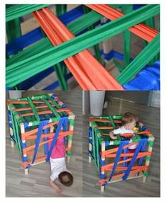 Montessori ideas for children from 1 to 2 years. DIY and more. - Montessori ideas for children from 1 to 2 years. DIY and more. Motor Activities, Sensory Activities, Infant Activities, Activities For Kids, Sensory Play, Montessori Baby, Transportation Crafts, Toddler Learning, Toddler Fun
