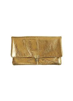 7b9253d688125 Lanvin Gold Clutch Bolsa De Festa