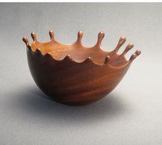 Mahogany Wood Splash Bowl 2 by DannyKamerath on Etsy, $425.00