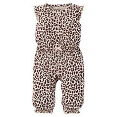 Just One You™Made by Carter's® Baby Girls' Leopard Print Jumpsuit
