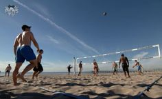 What do pro hockey players do on an off-day in California? Play beach volleyball of course!