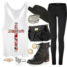 Clothes Casual Outift for • teens • movie • girls • women •. summer • fall • spring • winter • outfit ideas • date • school • parties Polyvore :) Catalina Christiano