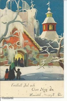 MW Snowy Day, Winter Art, Winter Solstice, Christian Art, Christmas Inspiration, Yule, Martini, Vintage Art, Fairytale