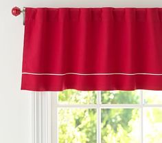 Twill Red with White Valance #pbkids