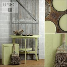 Upper Canada from Fusion Mineral Paint in stock now at ReVamp Vintage Market. Upper Canada Green from Fusion Mineral Paint. This color is a soft green with a Paint Line, Mineral Paint, Paint Furniture, Furniture Refinishing, Furniture Makeover, Milk Paint, Arts And Crafts Supplies, Learn To Paint, Color