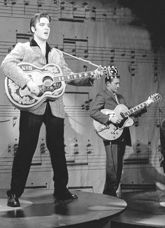 "September 9, 1956: ELVIS was in New York  for His first appearance on the ED SULLIVAN SHOW.  Elvis wore a loud plaid jacket, greeted the audience from a set decorated with stylized guitar shapes. He announced that the show was 'probably the greatest honor I have ever had in my life', and then launched into 'Don't Be Cruel"".  The ratings go through the roof. An estimated 54 million people watched Elvis."
