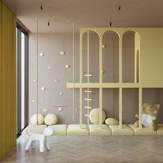 Silver apartment on Behance Kids Room Design, Kids Decor, Home Decor, Kids Corner, Kid Spaces, Kid Beds, Room Interior, Interior Design, Kids Furniture