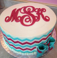 Monogrammed cake for MY BIRTHDAY????