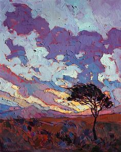 Small original impressionist oil painting by Erin Hanson