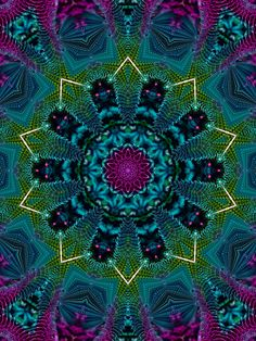 Mandala... soothing color palette