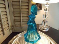 FENTON BLUE GLASS Figurine Fenton Art by VintageCreativeAccen
