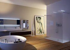 Ambiance loft dans cette salle de bain signée Moma Design. #amsld #interiordesign #bathroom #corian