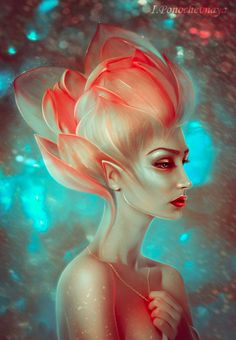 Cool and warm cool elf fantasy portraits Character Inspiration, Character Art, Character Design, Magical Creatures, Fantasy Creatures, Illustrations, Illustration Art, Drawn Art, Creature Design