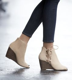 The Bobbi Lace Up Wedge from Sole Society. Cute Shoes, Me Too Shoes, Bootie Boots, Shoe Boots, Women's Shoes, Platform Shoes, Lace Up Wedges, Crazy Shoes, Cute Outfits