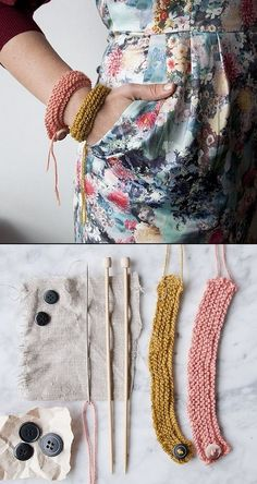 DIY SIMPLE KNITTED BRACELETS