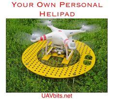 from uavbits.net #DJI #Phantom #Phantom3 #quadcopter #UAV #drone Your very own Personal #helipad