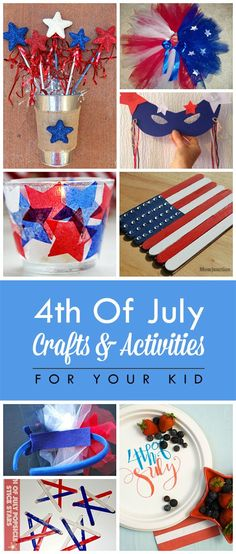 Of July Crafts And Activities For Kids : Planning to create some crafts with your kid for the Fourth of July? Want to create few activities & crafts? Find the fun of July crafts for kids Fourth Of July Food, 4th Of July Party, July 4th, Holiday Fun, Holiday Crafts, Crazy Holiday, Holiday Ideas, 4. Juli Party, 4th Of July Decorations