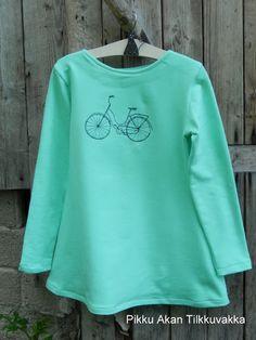 Pikku Akan Tilkkuvakka: Minttuinen polkupyörätunika