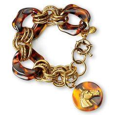 ༻❁༺ ❤️ ༻❁༺ Horse Tortoiseshell Bracelet | King Ranch ༻❁༺ ❤️ ༻❁༺ Fashion Accessories, Fashion Jewelry, King Ranch, Western Jewelry, Tortoise Shell, Horses, Chain, My Style, Bracelets