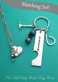 Items similar to Daddy Daughter Jewelry Set - Father s Day Keychain - Daddy  Keychain - Father s Day Set - This Little Girl Stole My Heart - Daughter ... 7fd0b3973721