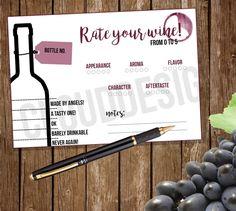 wine tasting score cards