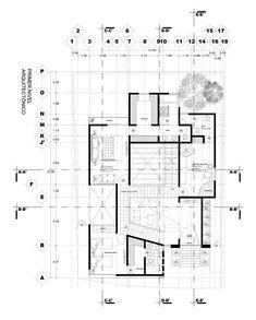 Casa Puebla Blanca / 2015 on Behance Architecture Symbols, Architecture Visualization, School Architecture, Architecture Plan, Contemporary Architecture, House Plans 2 Storey, Two Story House Plans, Floor Plan Symbols, Conceptual Sketches