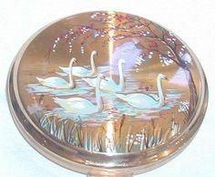 Vintage Swan Powder Compact