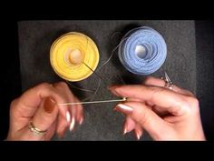 Lesson 4 Needle tatted True ring on the ball and how to move on from the true ring - YouTube