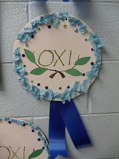 OXI Day pictures from around our school Images from World War II posters and photographs from the internet printed out and laminated t. School Images, School Pictures, Preschool Crafts, Crafts For Kids, Student Crafts, Greek Crafts, 28th October, National Holidays, Autumn Crafts