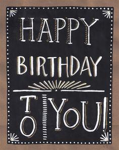 chalkboard happy birthday - Google Search