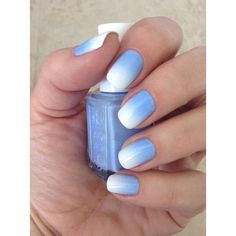 How to Get Ombre Nails (and 19 Stunning Ways to Rock Them) ❤ liked on Polyvore featuring beauty products, nail care and nail treatments