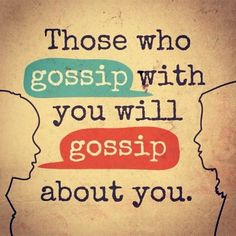 I kinda feel bad cause I gossip about people sometimes, IM AM A BAD PERSON!!