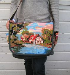 embroidery bag. I could never dream of making this, but this is so beautiful