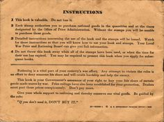 "War Ration Book: ""If you don't need out, don't buy it!"""