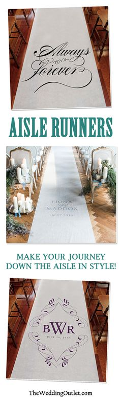 A wedding Aisle Runner not only will add interest to your wedding photographs but will also protect your dress! It's a must have wedding accessory for your ceremony