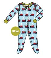 Pyjama avec pieds train 30€