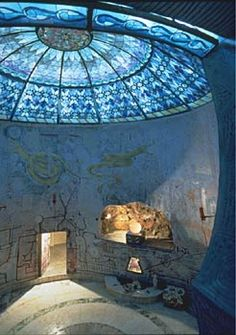 Water Chamber in Damanhur. Built into a mountain in Italy, a community for reincarnated Atlanteans