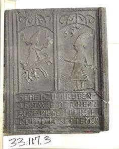 German text stove plate dating to the century. Morso Wood Stove, Cast Iron Stove, The Pa, Donkey, 18th Century, Pennsylvania, German, It Cast, Product Launch