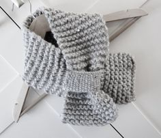 Grey knit scarf grey knitted scarf women's scarves by OnePurlRow