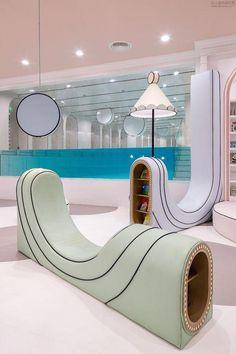 Indoor Swimming Pool Sunnyvale – New Swimming Pool New Interior Design, Indoor Swimming Pools, Kids Decor, Home Decor, Kid Spaces, Minimal Design, Retail Design, Colorful Interiors, Playroom