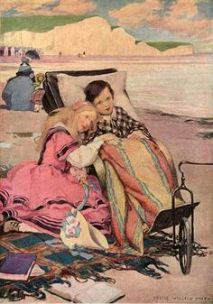 Paul Dombey and Florence On The Beach At Brighton