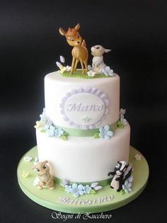 Bambi cake - by SogniDiZucchero @ CakesDecor.com - cake decorating website WOW!