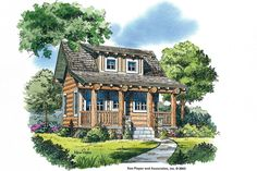 Cabins & Cottages Under 1,000 Square Feet: Sun River House Plan House #644