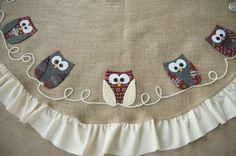 adorable DIY owl tree skirt!  @Deb Olson