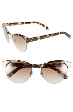 Free shipping and returns on kate spade new york 53mm cat eye sunglasses at Nordstrom.com. Mixed media sunglasses in an undeniably chic cat-eye silhouette prove just the ticket for smart, cosmopolitan style with a hint of retro attitude.