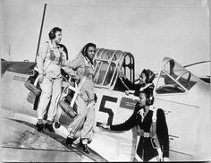 Black women in the U.S. Army Nurse Corps were assigned to Tuskegee Army Air Field Hospital (c 1943) to assist pilots and cadets with physical and psychological problems. Part of their training included ground school instruction, but they never flew during World War II. | Photo credit: Air Force Flight Test Center History Office