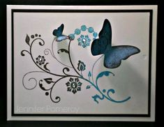 CAS09 DISTRESSED BUTTERFLY by Krafty Kitty - Cards and Paper Crafts at Splitcoaststampers