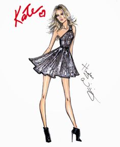 Hayden Williams Fashion Illustrations: The 'Summer Rock' Look by Hayden Williams for Rimmel London